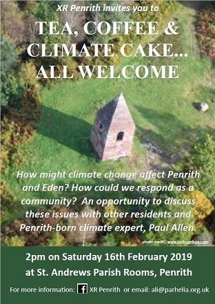 Extinction Rebellion Penrith: Climate cake