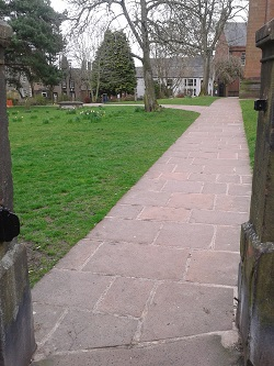 Rejuvenated paving at St Andrews Square in Penrith