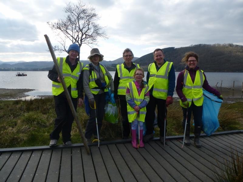 PACT Litter pick at Ullswater on 9th April 2019